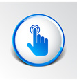 click hand icon pointer finger pointer vector image vector image