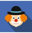Clown flat icon vector image vector image