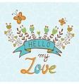 Concept romantic card vector image vector image