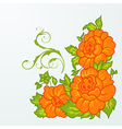 cute orange flowers isolated - vector image vector image