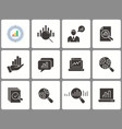 data analysis icon set isolated on vector image vector image