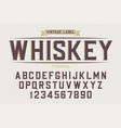 decorative vintage retro typeface font alphabet vector image vector image