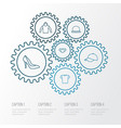 dress outline icons set collection of blouse hat vector image vector image