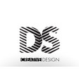 ds d s lines letter design with creative elegant vector image vector image