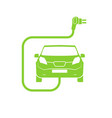electrical charging station symbol electric car vector image