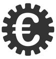 Euro Cog Flat Icon vector image vector image
