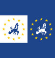european union map sign eu made label vector image vector image