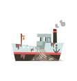 fishing vessel with net for seafood production vector image vector image