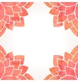Frame with watercolor red flower pattern vector image vector image