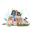 garbage pile organic and plastic dirty stack of vector image vector image