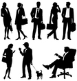 global business team - silhouettes vector image