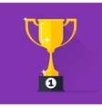 Golden cup gold trophy goblet vector image