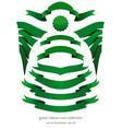green ribbons for st patricks day vector image vector image