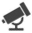 halftone dot telescope icon vector image vector image