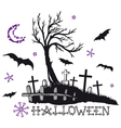 Halloween cemetery vector image vector image