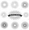 hand drawn sunburst vector image