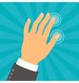 Hand touching fingers in flat design style vector image vector image