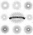 Handrawn Sunburst vector image