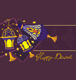 happy diwali holiday background vector image vector image