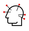 head acupuncture vector image vector image