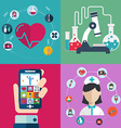 health care and medical flat banners set vector image vector image