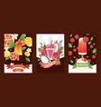 ice cream banners creamery vector image