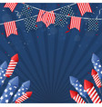 independence day of america with confetti and ribb vector image