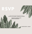 khaki palm leaves eco design foliage jungle vector image vector image