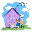 kids sketch of happy family vector image