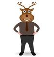 man in Christmas deer mask vector image vector image