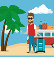 man in the beach character vector image vector image