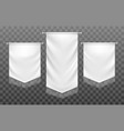 medieval textile banners vector image vector image