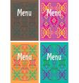 Mexican menu vector image vector image