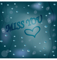 Miss you vector image vector image