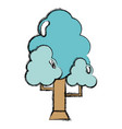 natural tree with branches to ecology care vector image vector image