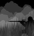 Night sniper vector image vector image