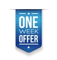 One Week Offer Blue ribbon vector image