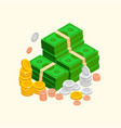 pile of money isometric icon vector image