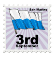 post stamp of national day of San Marino vector image vector image