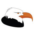 profile of a black and white eagle on white vector image