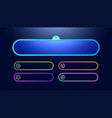 question and answers template neon style vector image vector image