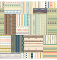 seamless patchwork pattern Vintage ethnic tribal vector image vector image