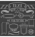 Set of vintage ribbons frames on a chalkboard vector image vector image