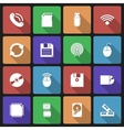 set technology icons with long shadow vector image vector image