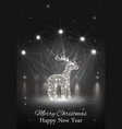 shiny reindeer with spotlight on stage vector image vector image