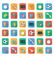 soccer set icons with field vector image vector image