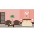 stylish interior of a hotel room with furniture vector image vector image