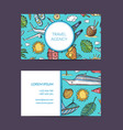 summer travel elements business card vector image vector image