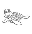 turtles coloring book vector image vector image
