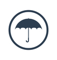 Umbrella flat icon vector image vector image